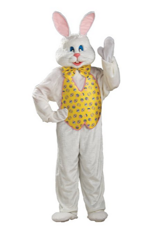 Bunny With Yellow Vest:Great Easter Bunny Costumes