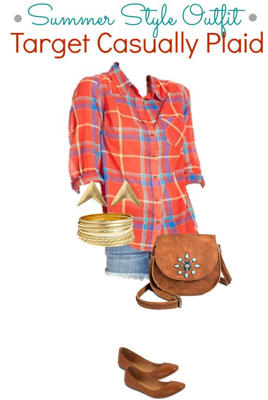 Target Summer Style - Casual Plaid Summer Teen Fashion Outfit