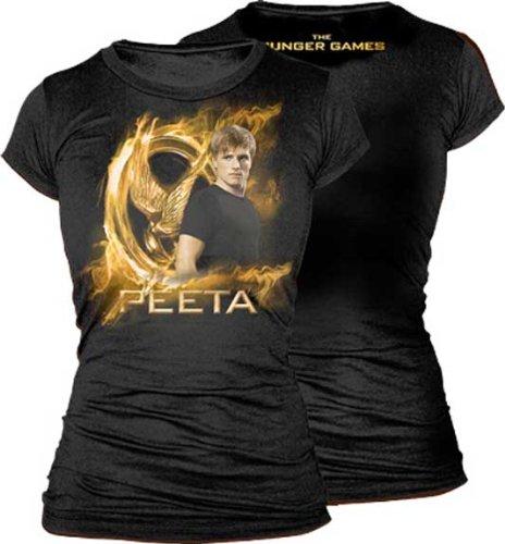 Catching Fire Peeta Gold Mockingjay TShirt