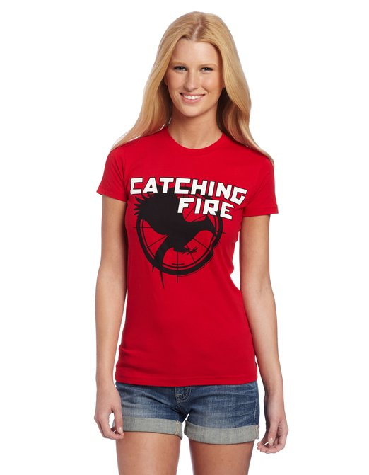 Catching Fire Red Hunger Games T-Shirts