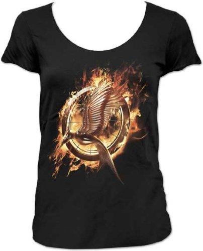 Catching Fire Scoop Neck TShirt Hunger Games T-Shirts