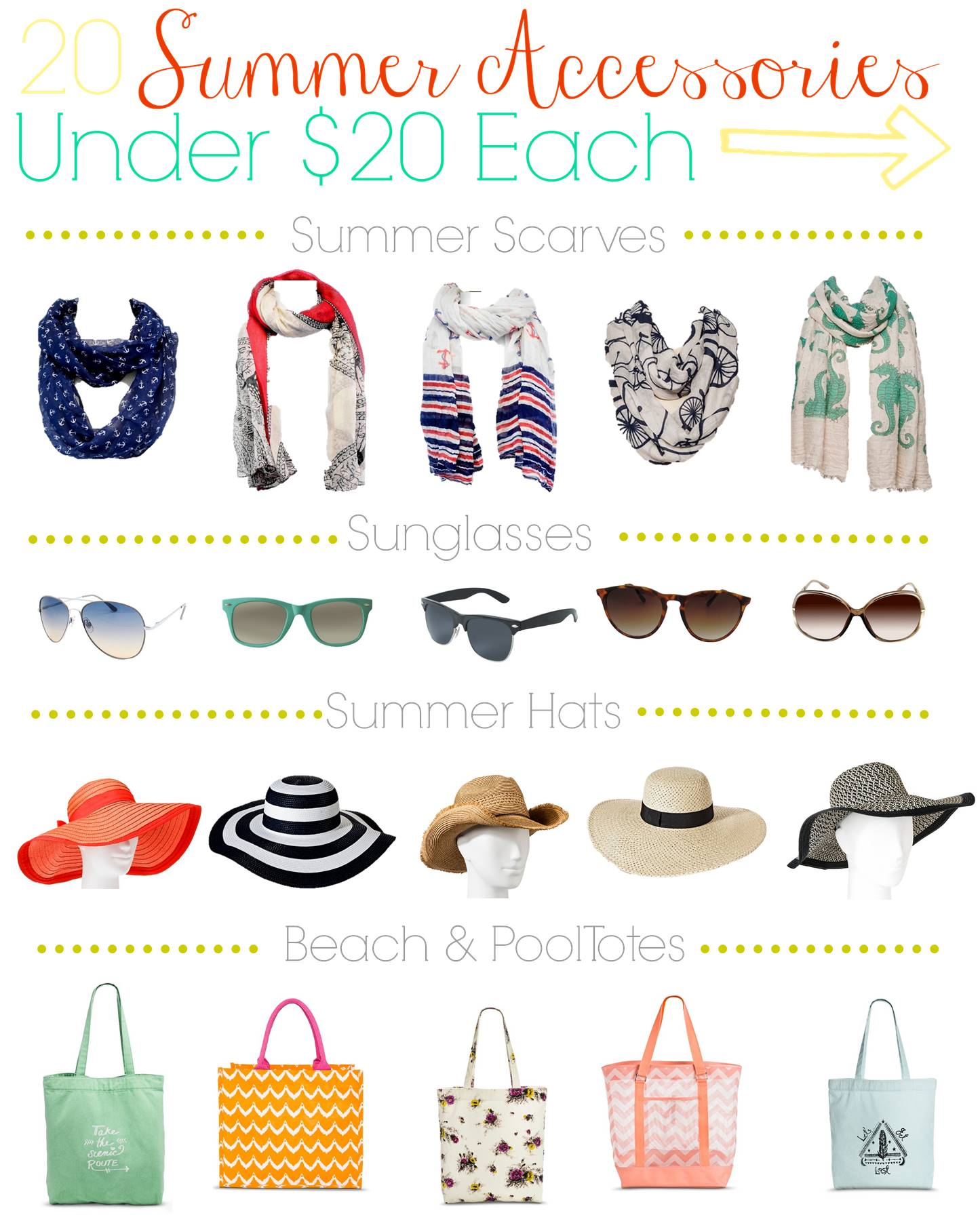 . 20 Summer Teen Fashion Accessories Under  20