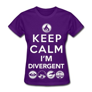 Keep Calm Im Divergent: Divergent Themed T-Shirts Teen Summer Fashions