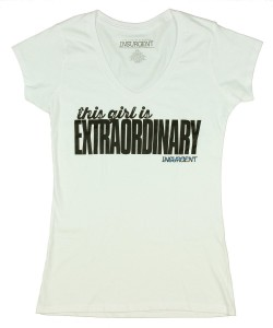 This Girl Is Extraordinary Insurgent TShirt Divergent Themed T-Shirts Teen Summer Fashions