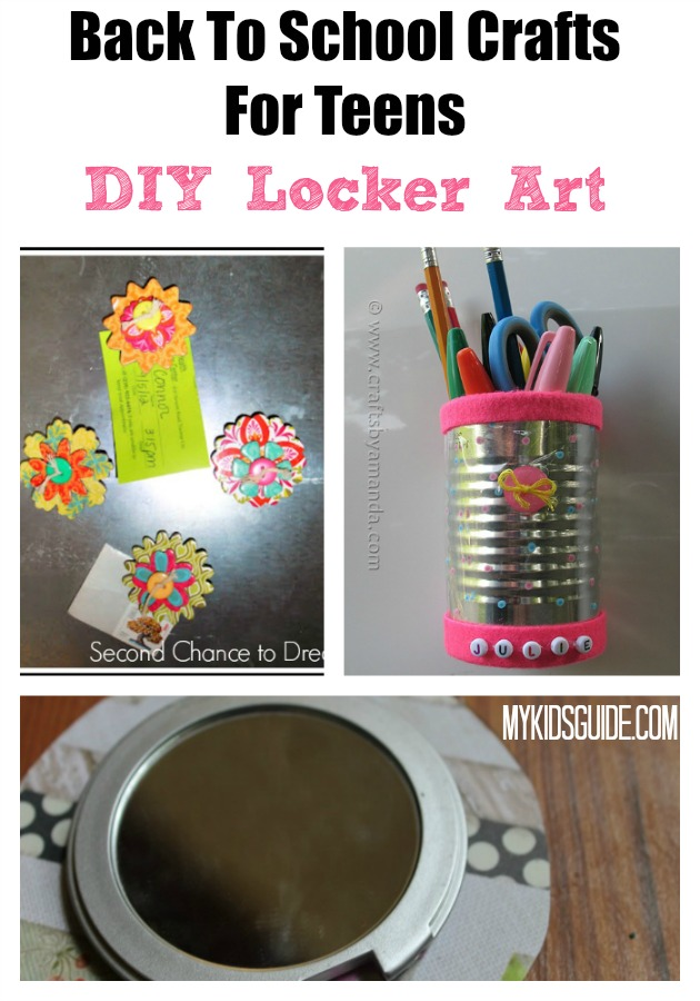 Back to school crafts for teens top locker art for Locker decorations you can make at home