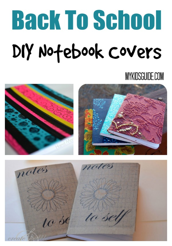 Looking for a fun back to school craft for teens? Check out these DIY notebook covers that take your store-bought notebooks from boring to totally YOU!