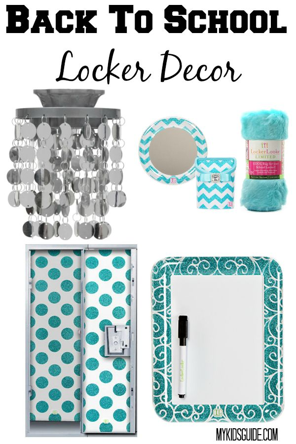 Best back to school locker decor for teens for Locker decorations you can make at home