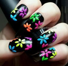 Flower nails: 5 Best Nail Art Designs On Pinterest