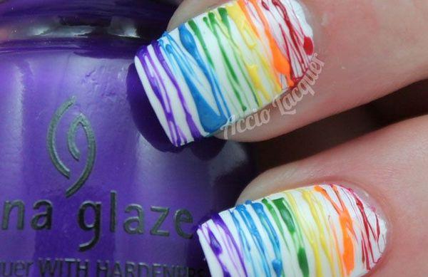 Rainbow Nails best Nail Art Designs On Pinterest