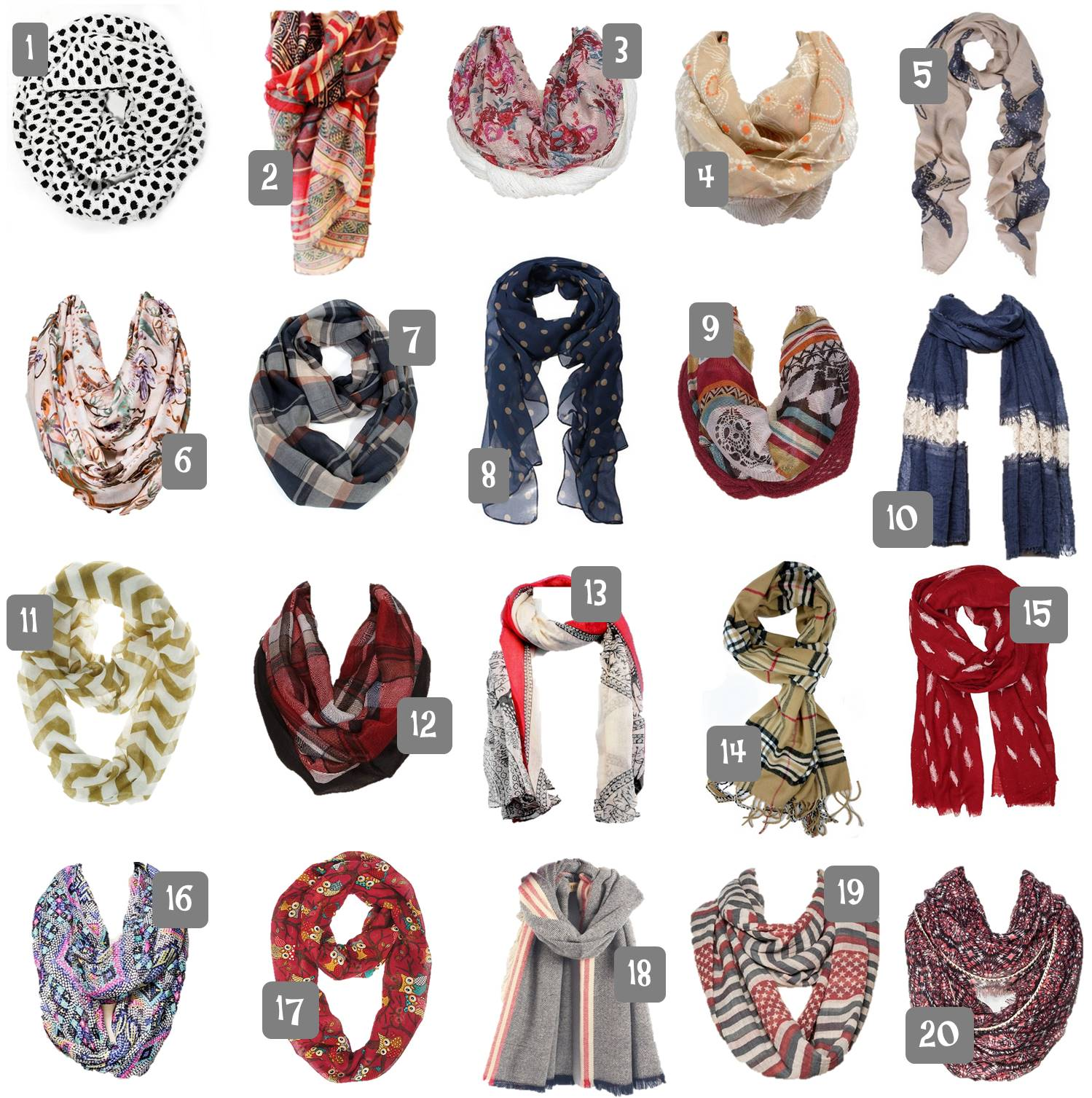 20 Fall Scarves Under $20 Shipped. Perfect to enhance your fall fashion style