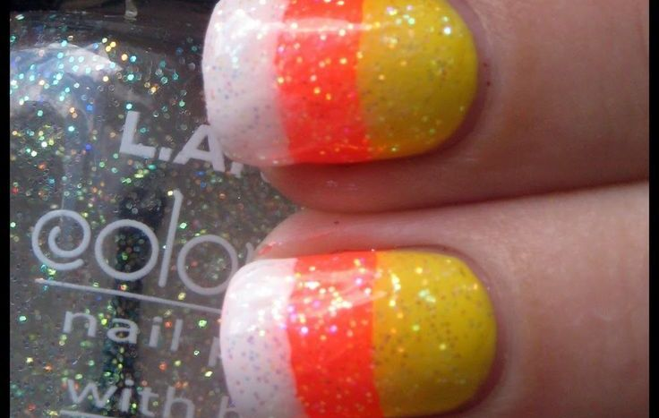 Candy Corn Nails  Fall Nail Makeover Ideas For Teens