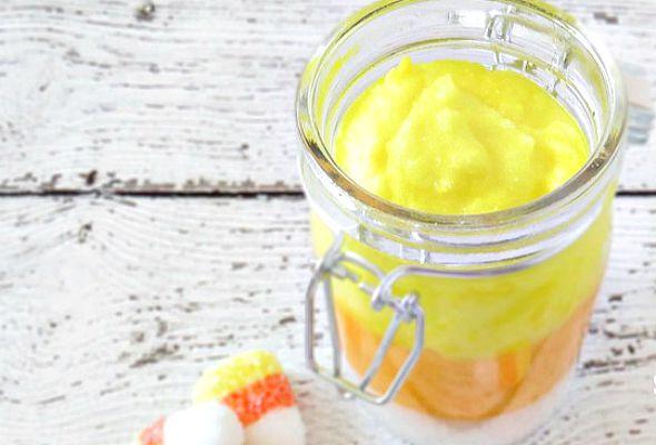 Candy-Cron-Sugar-Scrub Wicked Fun Halloween DIY Ideas