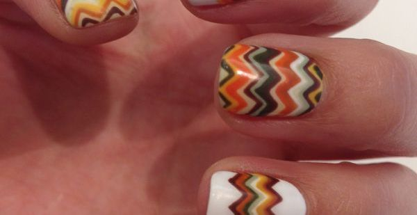 Chevron  Fall Nail Makeover Ideas For Teens