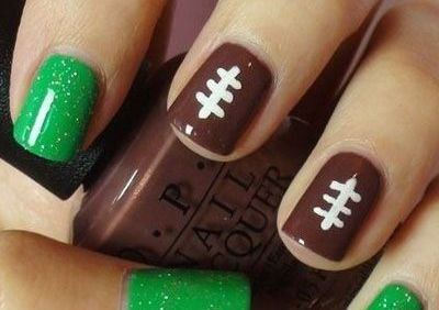 Football Nails  Fall Nail Makeover Ideas For Teens