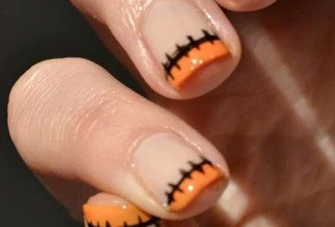 Frankenstein Tips  Fall Nail Makeover Ideas For Teens