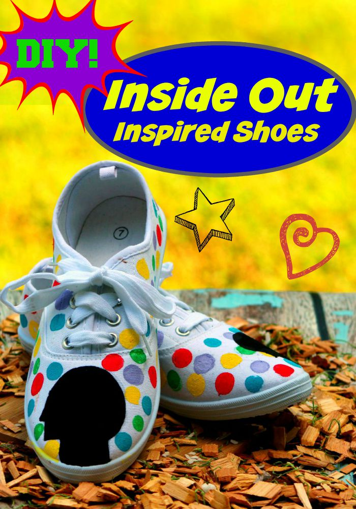 DIY Disney/Pixar Inside Out Shoes are a simple and quick craft project for teens to make. See our full instructions and make your own colorful shoes.