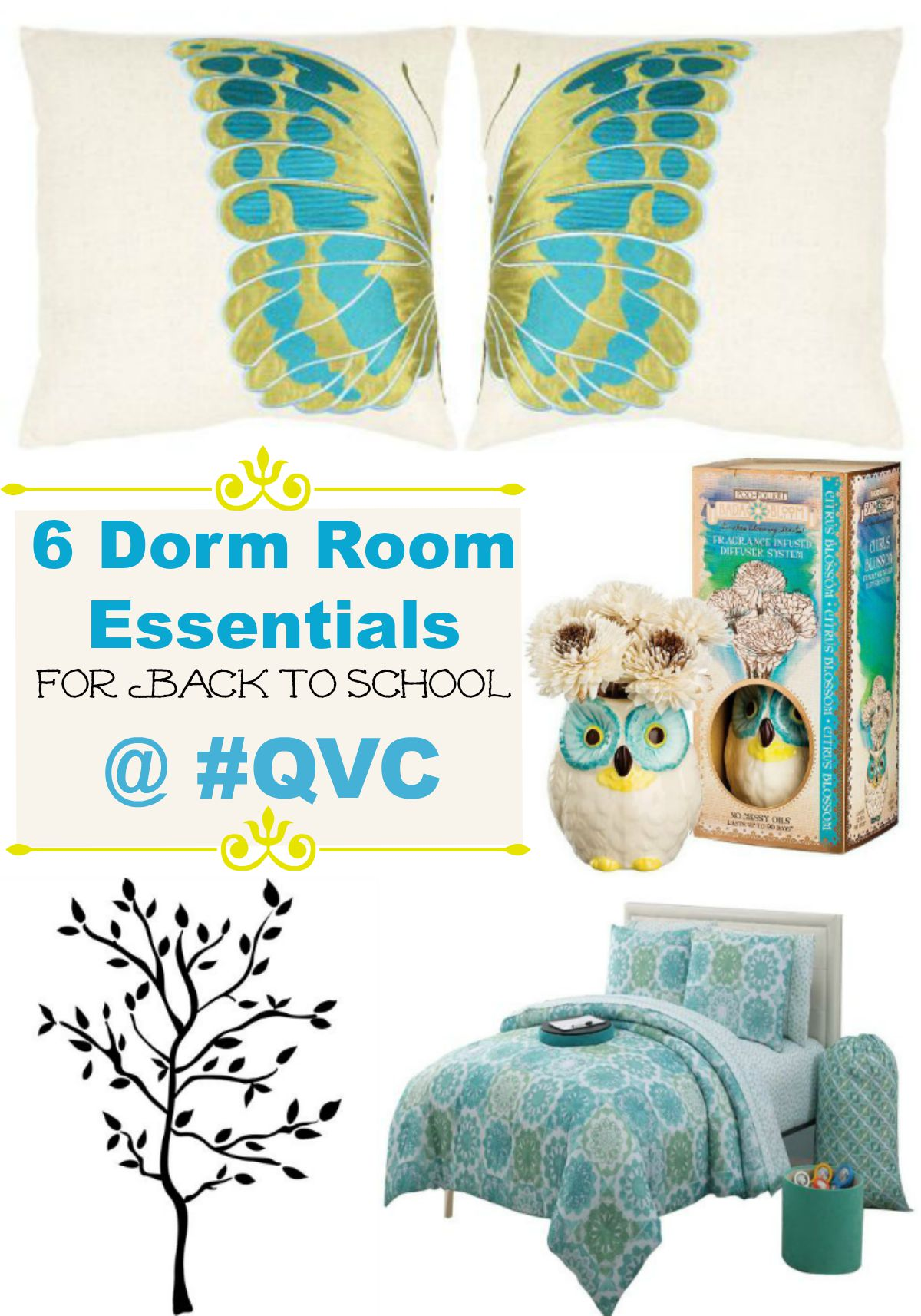 Get fabulous dorm room essentials on any budget at QVC with their QCard that lets you spread the cost over three monthly payments! Check out our favorites!