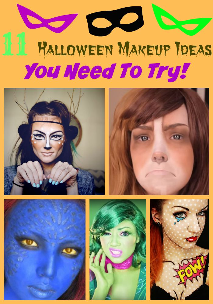 We gathered eleven of the most amazing Halloween makeup ideas that will make your Halloween costume pop. You have to try these looks!