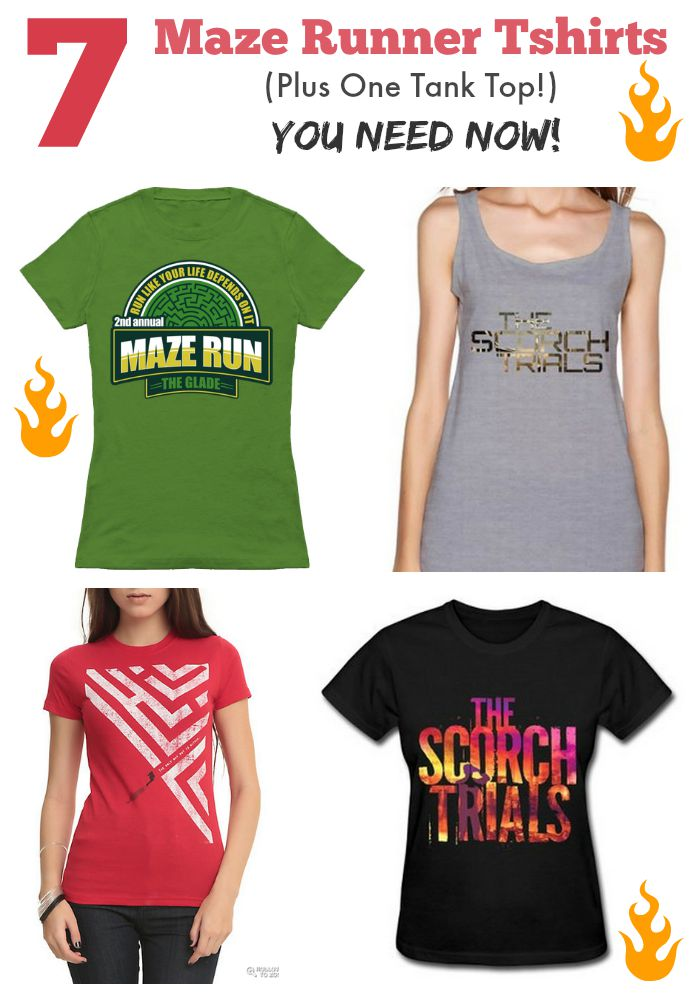 We cannot wait for the Scorch Trials movie. To celebrate, we have rounded up 7 Maze Runner Tshirts so you can look fab when you go see the movie.