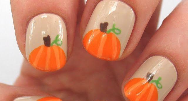 pumpkin  Fall Nail Makeover Ideas For Teens