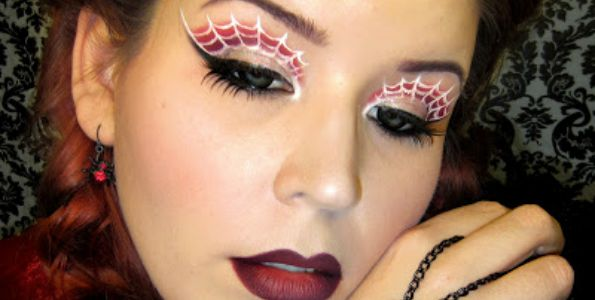spider queen eyes Halloween makeup