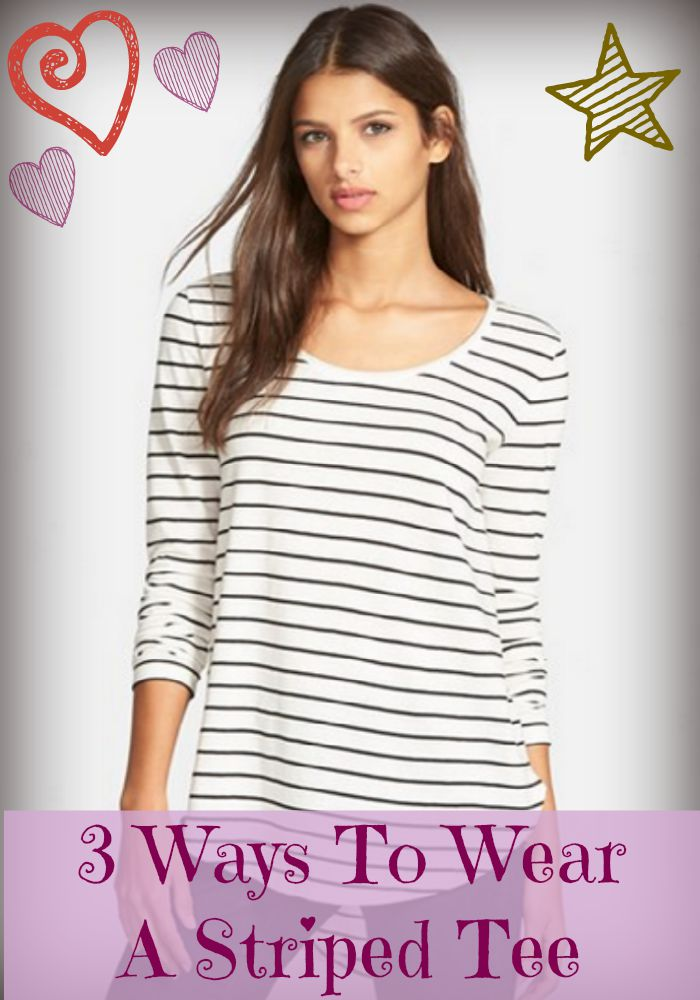 Triple your wardrobe and your look! We have taken a basic striped tee and remixed it into three different outfits perfect for teens.