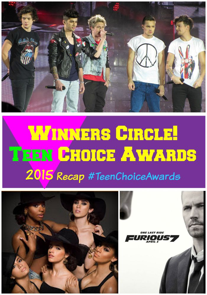 Winners Circle! Teen Choice Awards 2015 Recap #TeenChoiceAwards