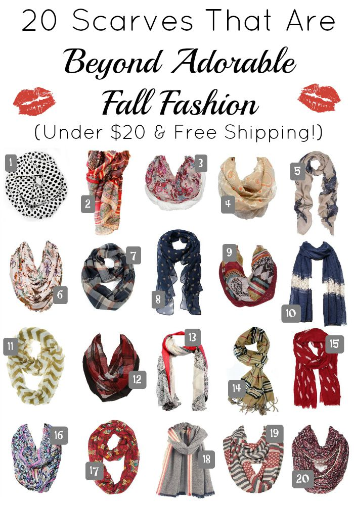 20 Scarves That Are Beyond Adorable Teen Fall Fashion. These picks are all under $20 and can ship completely free!