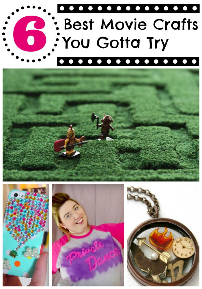 Check out this roundup of six of the best movie inspired teen crafts. You are going to want to make these projects right now!.