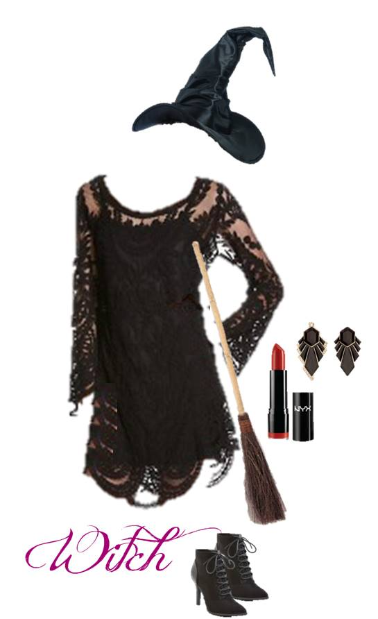 DIY Witch Halloween Costume: Use our ideas to raid your favorite closet and put together the perfect Halloween costume for teens.