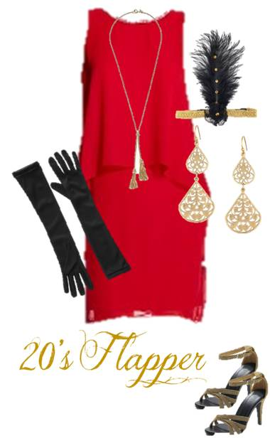 20s Flapper: Use our ideas to raid your favorite closet and put together the perfect Halloween costume for teens.