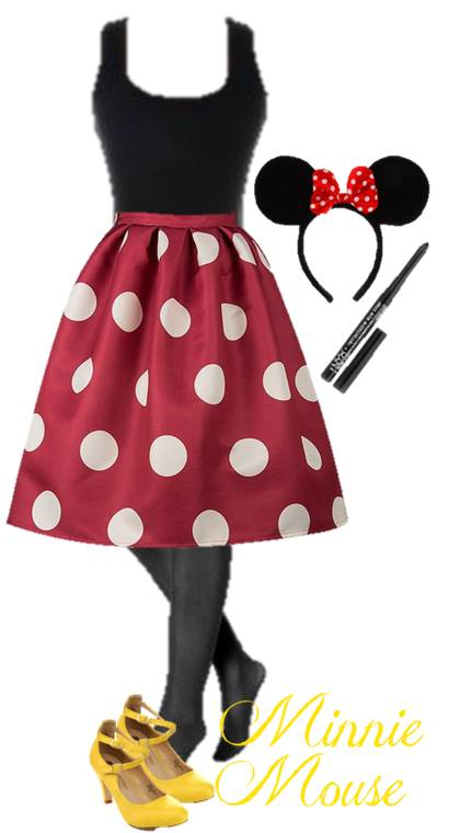 Halloween Costume Idea DIY Minnie Mouse: Use our ideas to raid your favorite closet and put together the perfect Halloween costume for teens.