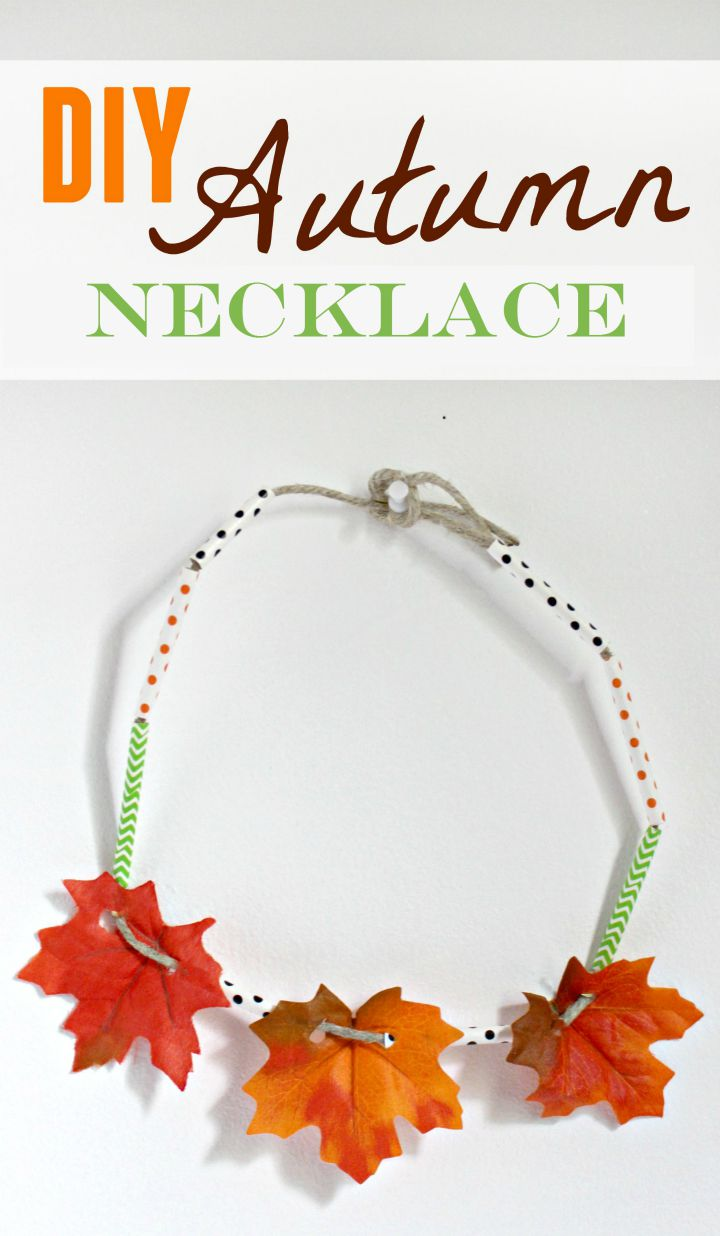Fall necklace craft for teens for Fall diy crafts pinterest