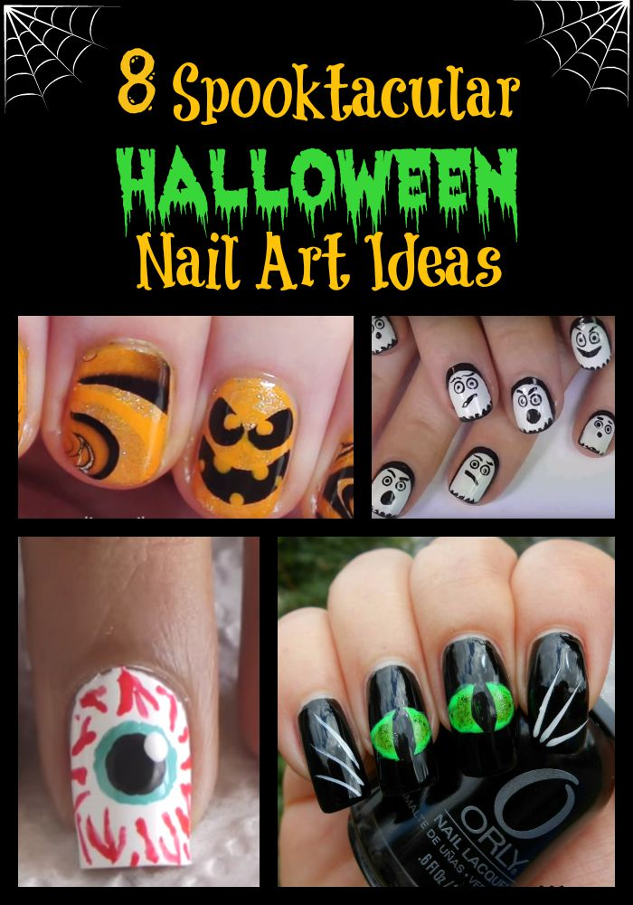 Check out our round-up that includes 8 different spooky and cute Halloween nail art designs that teens will love.