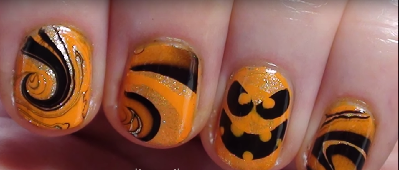 Pumpkins DIY Halloween Nail Art