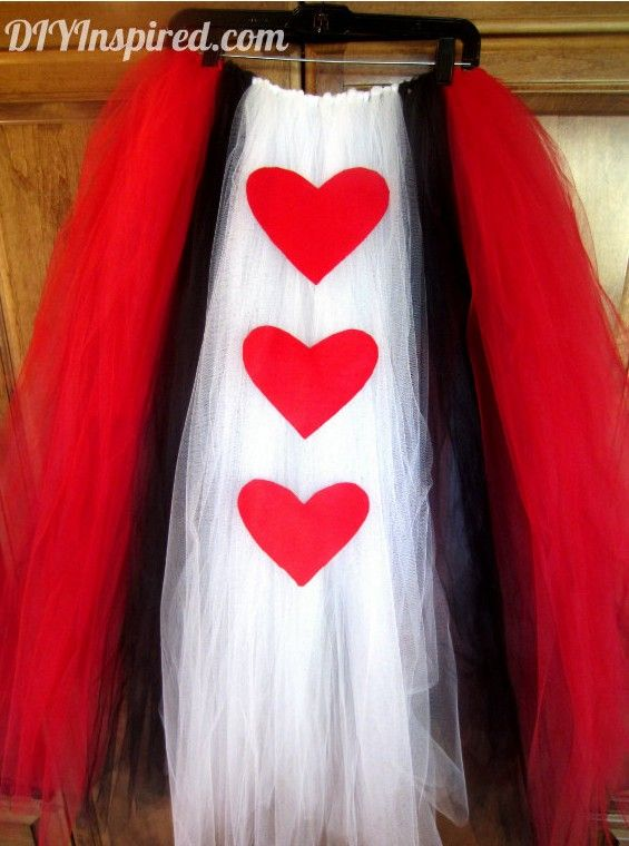 Queen Of Hearts Costume Diy Tutu DIY Halloween Costume ...