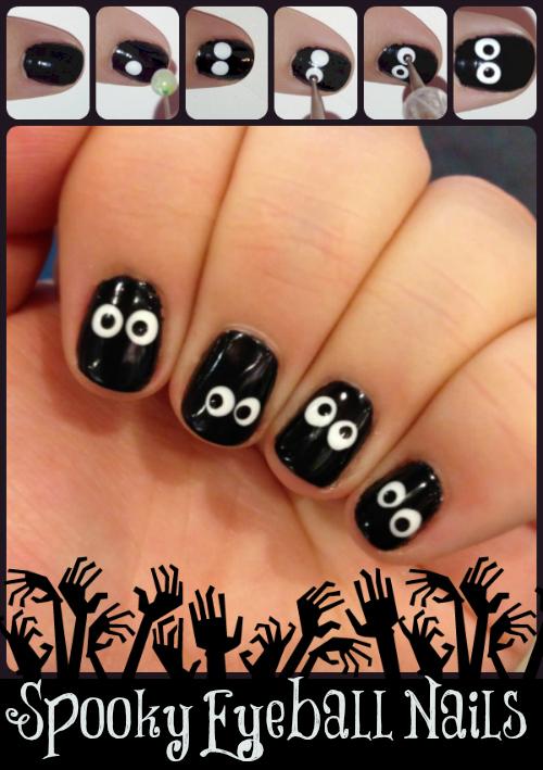 Spooky-Eyeball-Nails1 DIY Halloween Nail Art