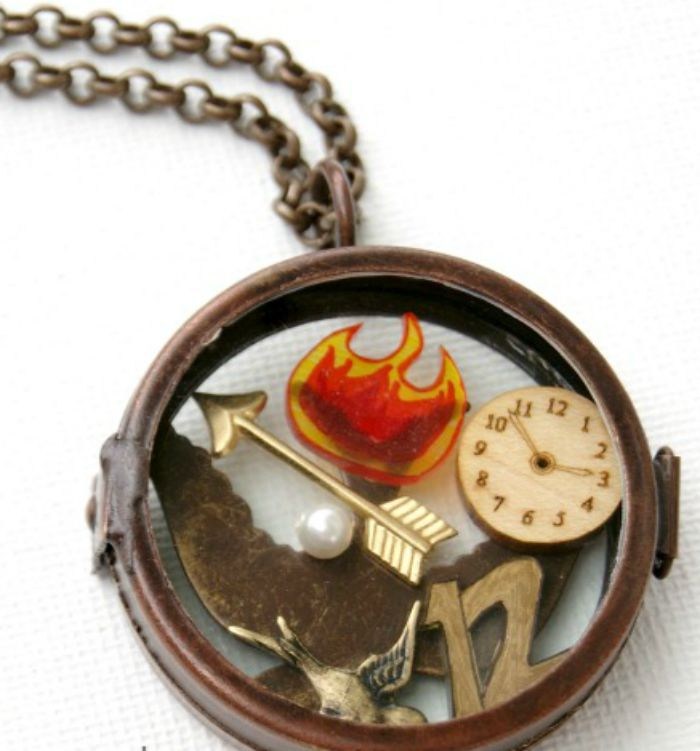 Movie Inspired crafts for teens Hunger Games Locket