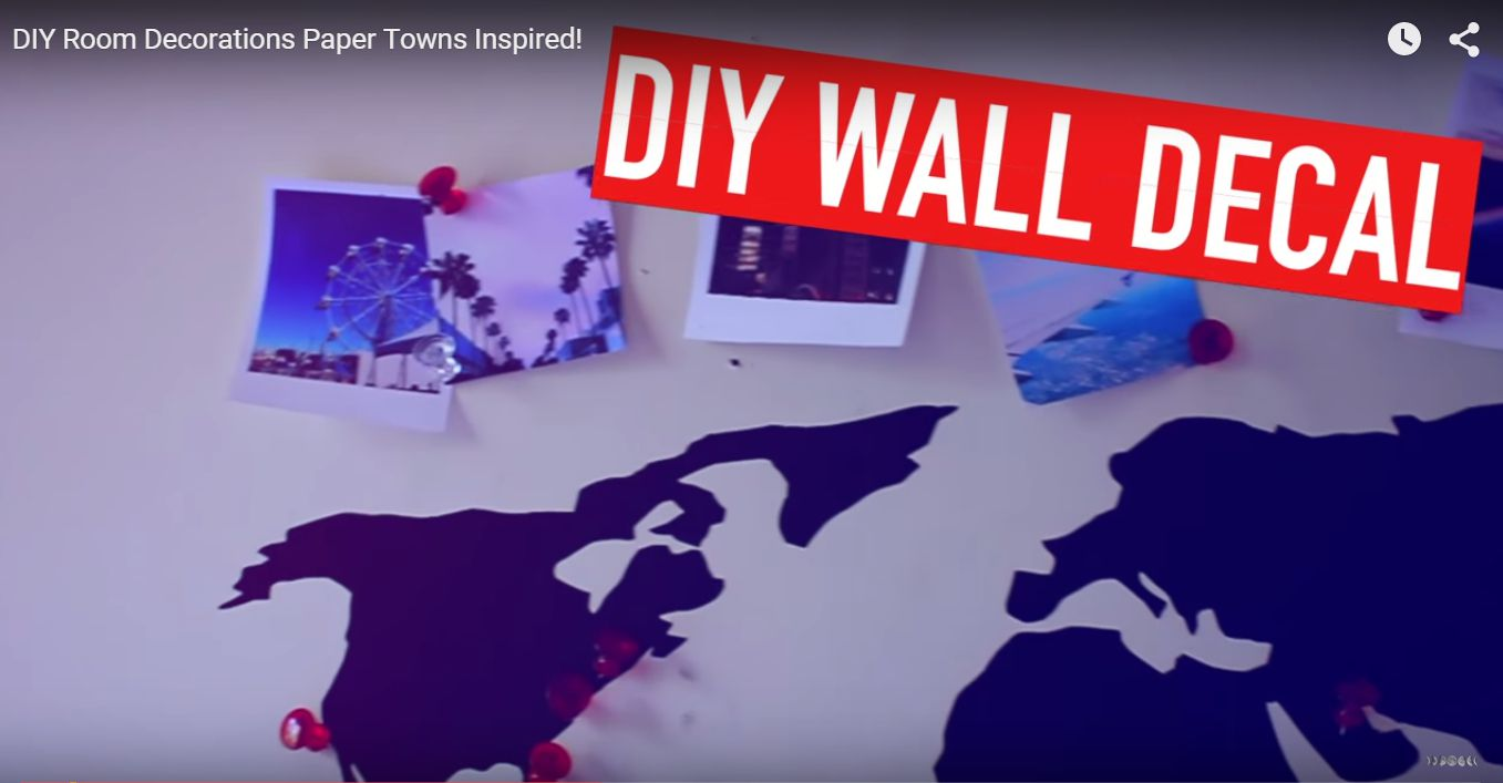 paper towns instagram wall decal Movie Inspired crafts for teens