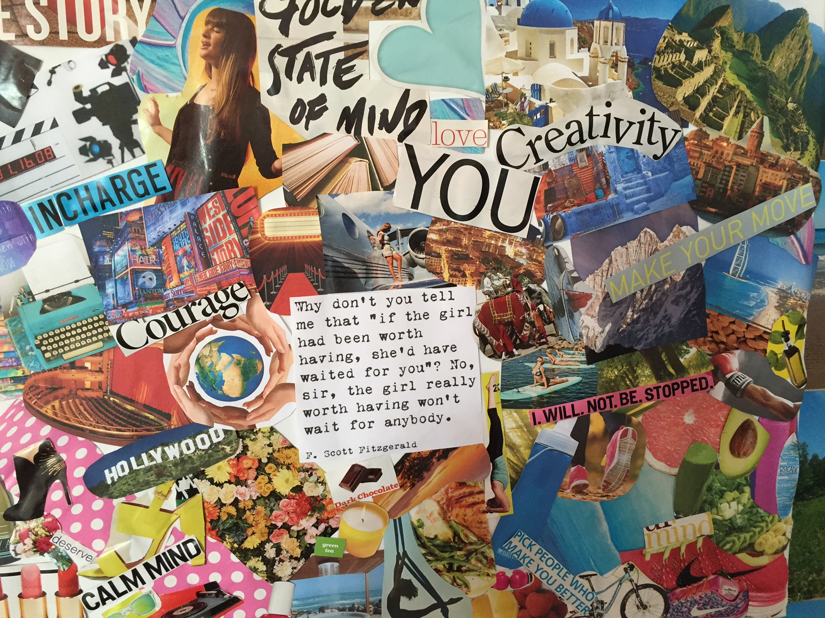Follow your dreams and stay true to your passions with this awesome DIY craft! Make your own vision board!