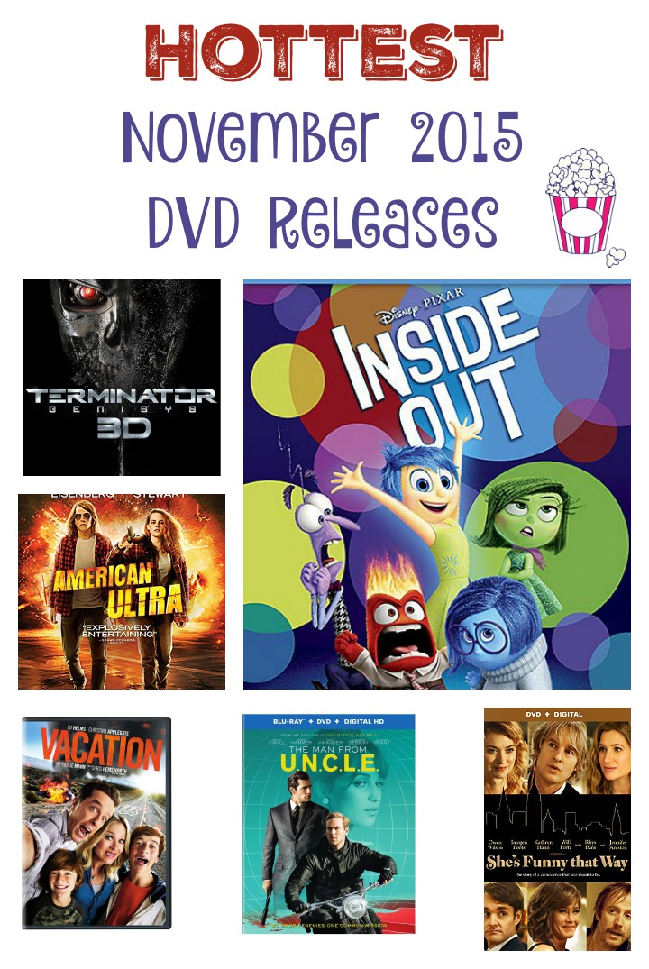 Check out all the fabulous November 2015 DVD Releases and start planning your weekend movie binging festivities! There's something for everyone here!
