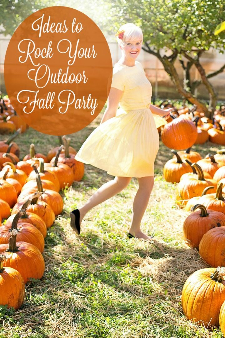 Rock your outdoor fall party this year with these great ideas for everything from comfy seating to the best seasonal tasty treats for your guests!