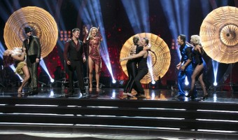 "DANCING WITH THE STARS - ""Episode 2110"" - Four remaining couples advanced to the SEMI-FINALS on ""Dancing with the Stars"" on MONDAY, NOVEMBER 16 (8:00-10:01 p.m., ET). For the first time in ""Dancing with the Stars"" history, the couples have to dance three dances in the semi-finals: a dance style not yet danced, a trio, and a dance-off challenge, which is a recent edition. For the trio dance, couples picked a dancer to enhance their performance and highlight the strengths of each star. (ABC/Adam Taylor) SHARNA BURGESS, NICK CARTER, ALEK SKARLATOS, LINDSAY ARNOLD, BINDI IRWIN, DEREK HOUGH, CARLOS PENAVEGA, WITNEY CARSON"