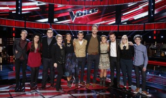 "The Voice Season 9 Top 12 Performances and Elimination Recap-- ""Live Top 12"" Episode 914B -- Pictured: (l-r) Evan McKeel, Madi Davis, Jordan Smith, Shelby Brown, Amy Vachal, Zach Seabaugh, Barrett Baber, Emily Ann Roberts, Jeffery Austin, Korin Bukowski, Braiden Sunshine -- (Photo by: Trae Patton/NBC)"