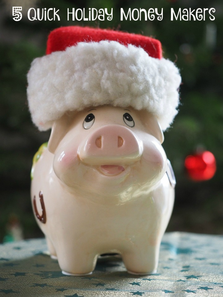 Didn't save up quite enough cash for all your holiday gifts this year? Here is a list of 5 ways guaranteed to bring some money your way!