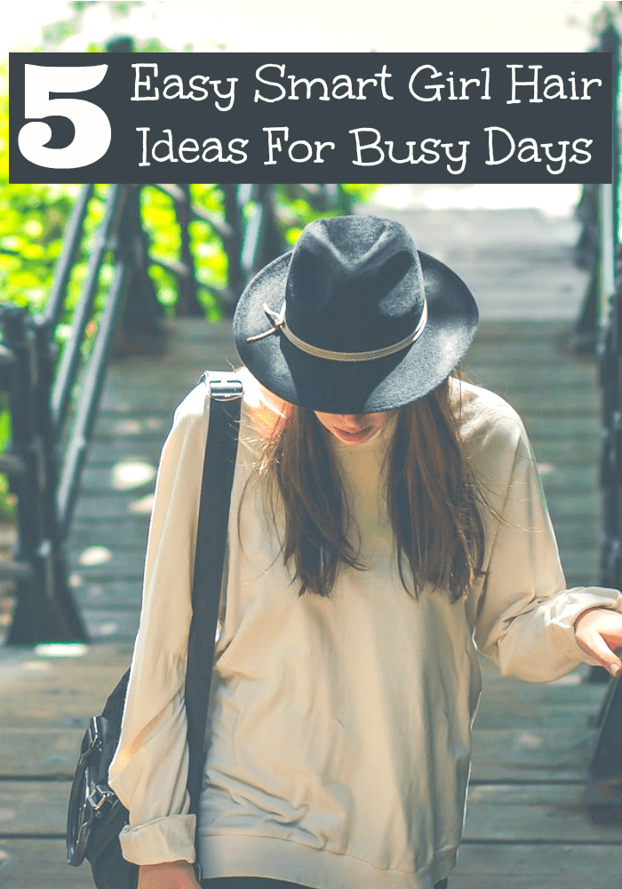 Smart girls know how to do their hair for busy days in a flash. Check out our five ideas that will have you out the door looking cute in no time.