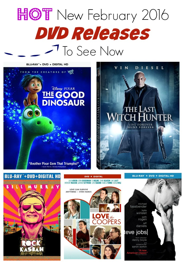 Watch the hottest and most anticipated February 2016 DVD releases. Check out the best titles coming to DVD this month!