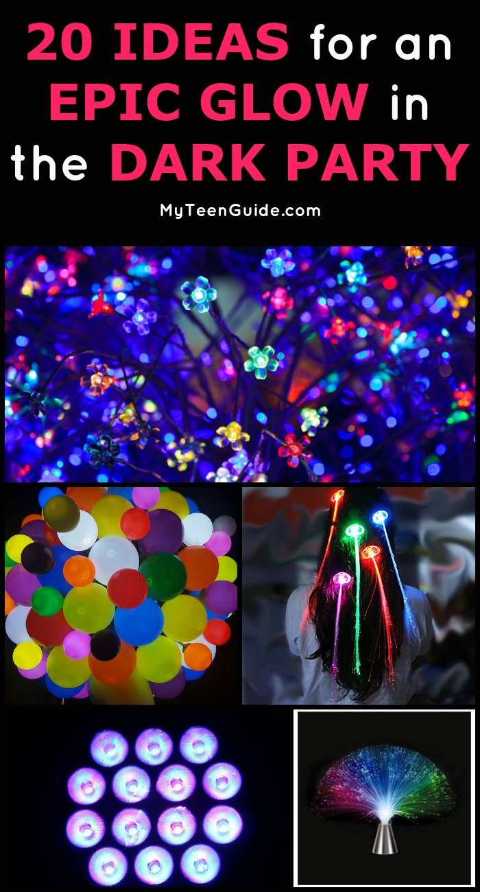 I have been looking for a way to help a friend celebrate her birthday, and we just came up with the most amazing idea for a glow in the dark party! What better way to celebrate my friend's sweet 16 then with all her closest friends surrounding her glowing! Here are some of the ideas we have rounded up so far.