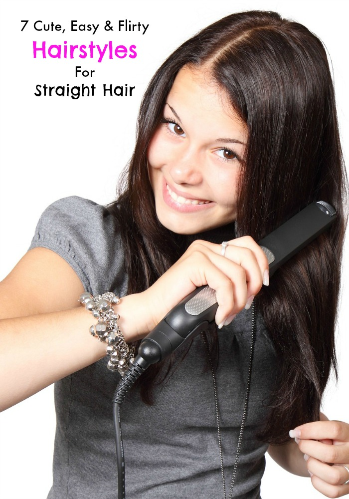 Stupendous 7 Cute Easy And Flirty Hairstyles For Straight Hair My Teen Guide Hairstyles For Men Maxibearus
