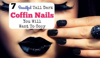 7 Beautiful Tall Dark Coffin Nails You Will Want To Copy